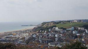 Der Ausblick über Hastings