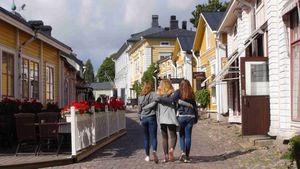Die Altstadt von Porvoo