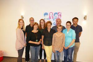 Maren Engel, Michael Meyer, Christiane Weisheit, Katharina Müller, Bettina Heine, Dirk Tronnier, Claudia Weisheit, Annette Stüber, Kai Kühl | von links nach rechts